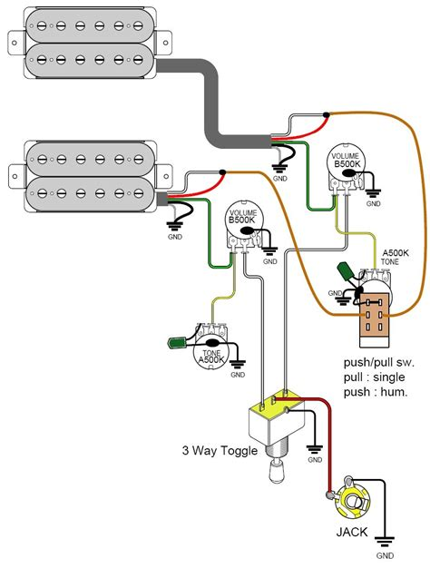 Gibson Humbucker 1 Tone Wiring Diagram Vol by 3 Pot Wiring Diagram Gibson Wiring Library