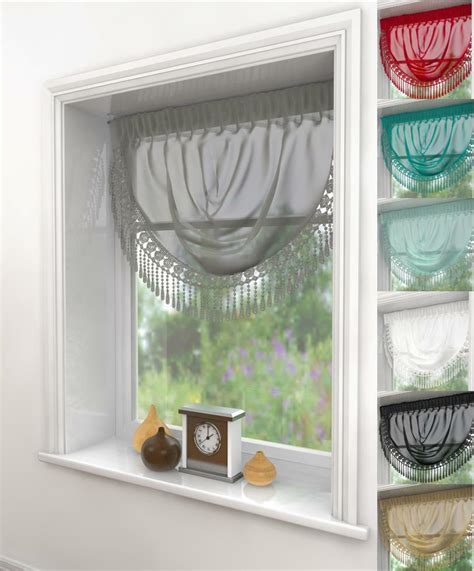 decorative curtains drapes maisie serenity macrame voile swag curtain decorative
