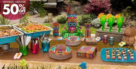 tiki party theme tiki party supplies decorations