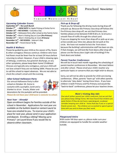 newsletter templates free create edit fill 667 | preschool newsletter template