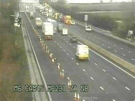 Full closure on M6 after crash between junctions 15 and 14 ...