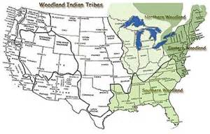 Eastern Woodland Indian Map