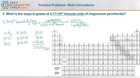 Chemistry Practice Problems Mole Calculations Youtube