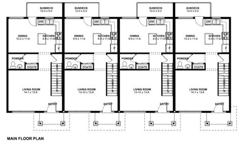 multi level house floor plans economical multi family dwelling house plan hunters