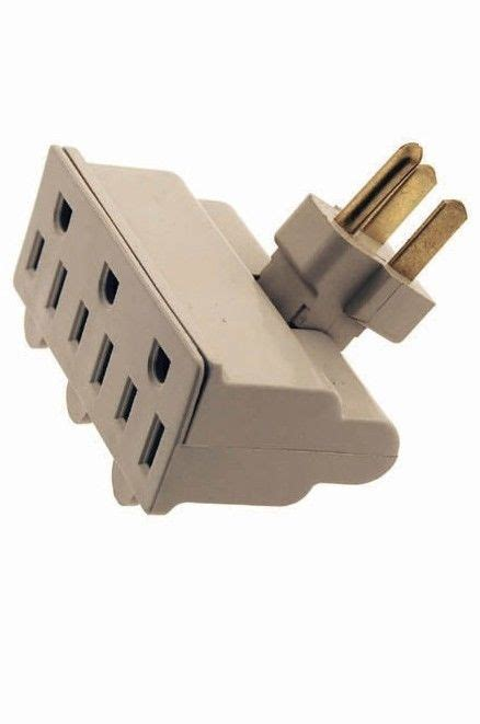 3 Outlet 3 Prong Swivel Grounded Electric Plug Wall Tap