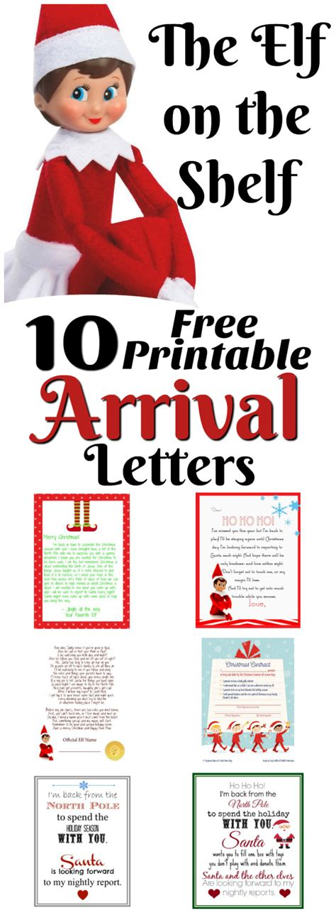on the shelf arrival letter template on the shelf ideas for arrival 10 free printables letters from santa blogletters from