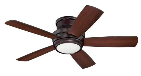 craftmade tmph44ob5 tempo hugger 1 led light 44 inch ceiling fan in bronze with 5 walnut