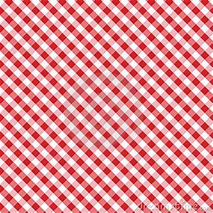 Gingham Cross Weave, Red, Seamless Background Stock