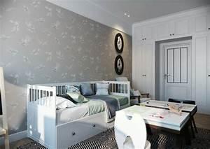 Wandgestaltung Mit Tapeten : 50 beruhigende ideen f r schlafzimmer wandgestaltung ~ Lizthompson.info Haus und Dekorationen