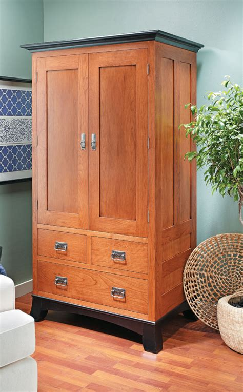 cherry armoire woodworking project woodsmith plans