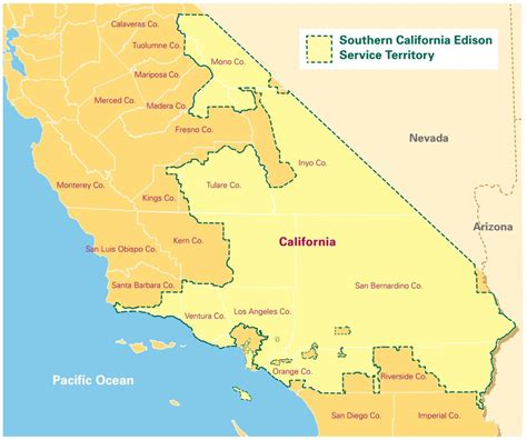 Service California by Sce Service Territory Grey Cells Energy