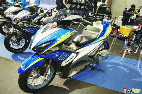Modifikasi Motor Aerox 155 by Modifikasi Yamaha Aerox 155 Suspensi Monoshock