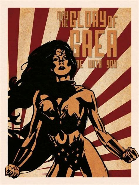 Vintage Propaganda Wonder Woman Poster Design Poster