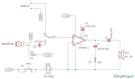 Circuit Diagram And Explanation by Audio Voice Circuit Diagram Using Lm386