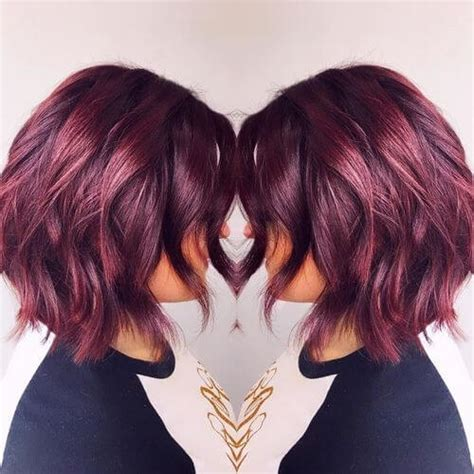 burgundy hair color ideas   yummy wine colors