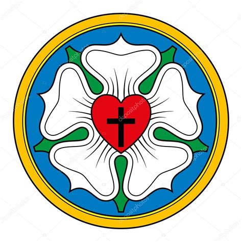 luther rose symbol illustration  white stock vector