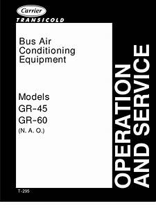 Carrier Bus Air Conditioning Unit Model Gr