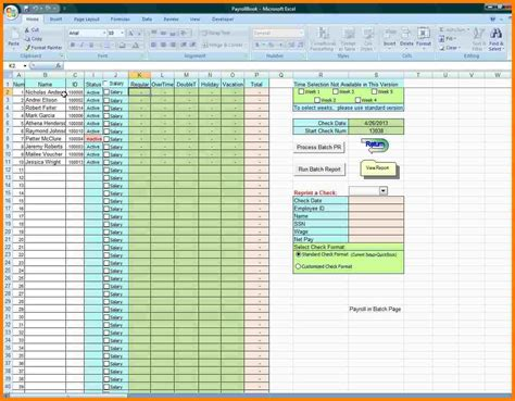 payroll template excel 5 free payroll excel template sles of paystubs