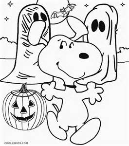Snoopy Halloween Coloring Pages Printable