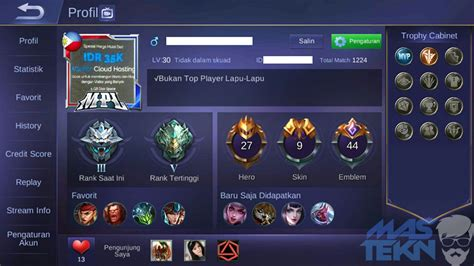 profil mobile legend cara mengganti avatar foto profil mobile legends dengan