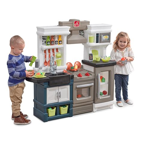play kitchen for 7 year chef s kitchen play set step2