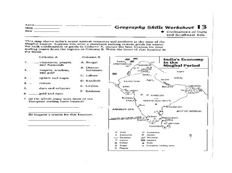 worksheet geography skills worksheets hunterhq free