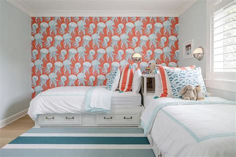 Boys Bedroom With Blue Horizontal