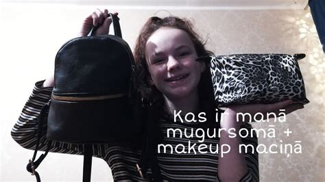 Kas ir manā mugursomā +makeup maciņā - YouTube