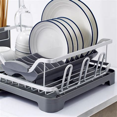 tier extendable adjustable plate rack kitchen dishes cutlery cup dra fgarden