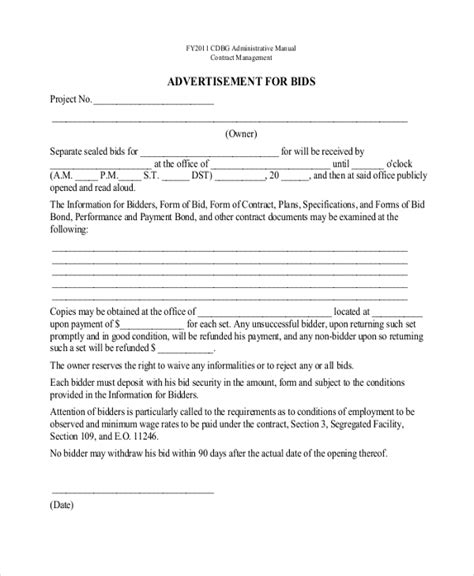 sample contractor proposal forms   documents