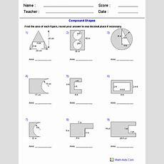 Area Of Compound Shapes Subtracting Regions Worksheets  Matikka  Geometry Worksheets,algebra