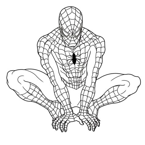 spoderman template free printable coloring pages for