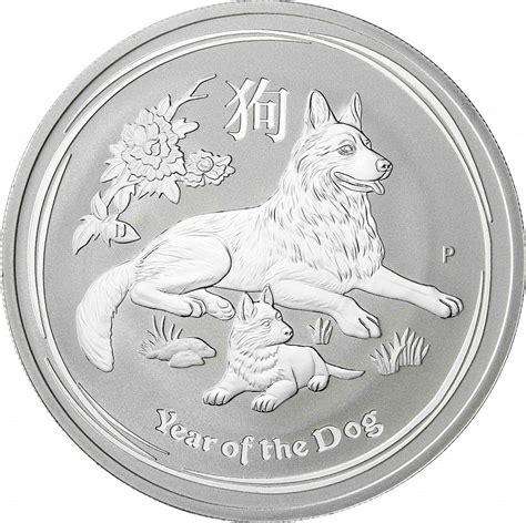2018 Jahr Des Hundes Farben by 1 Oz Silber Australien Jahr Des Hundes 2018 Silberm 252 Nze