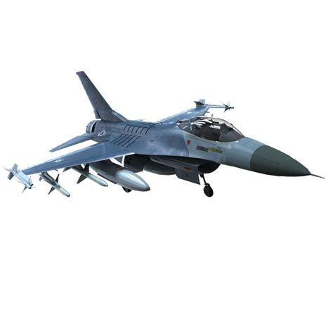 3d Model F16 Fighter Vr / Ar / Low-poly Fbx Ma Mb