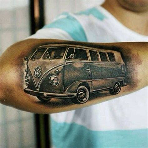 volkswagen bus tattoo true dedication picture tattoo danieldd d vw vwbus