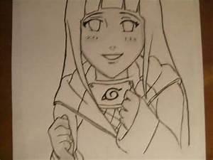 How to Draw Hinata (Shippuden) - YouTube