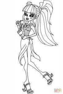 monster high draculaura coloring page  printable