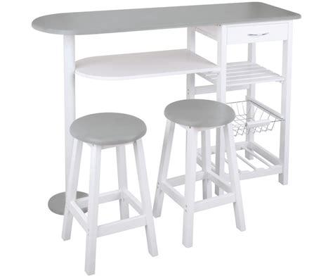 tabouret de bar cuisine ensemble cuisine table bar idéal studio avec deux