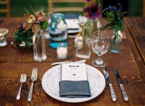 place setting menu card reception decor  wed