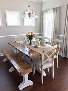 Farmhouse Table & Bench - Shanty 2 Chic