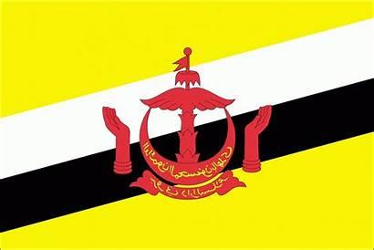 Brunei Bendera Negara Darussalam Lambang Gambar Dan