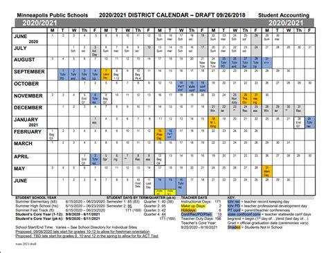 proposed calendars