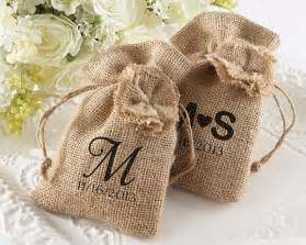 wedding favor gift bags burlap favor bag with drawstring tie rustic wedding favors by kate aspen