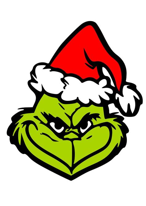 grinch head svg png  dxf grinch christmas grinch