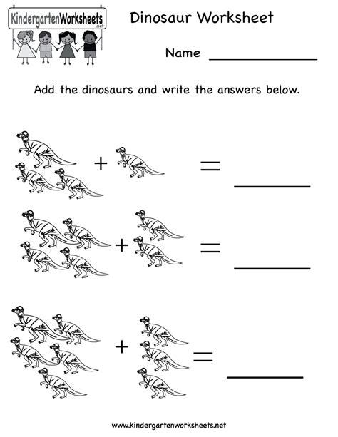 Worksheetprintableeducationalworksheetsforkindergartendinosaur Educational Worksheets For