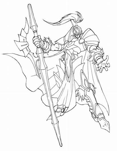 Knight Lineart Deviantart Concept Coloring Pages Medieval