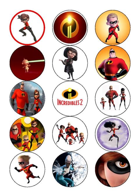 2 topper übereinander the incredibles 2 edible cake cupcake toppers cake toppers