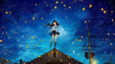 Anime Backgrounds For Desktop by Fireflies Wallpapers Wallpaper Cave
