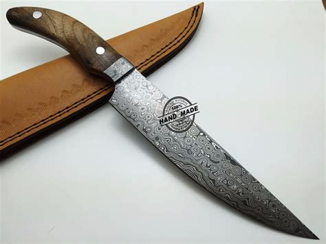 damascus steel kitchen knives damascus kitchen knife custom handmade damascus steel kitchen