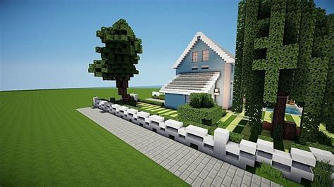 suburban house project minecraft house design